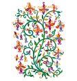 renaissance floral vector image vector image
