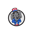 republican elephant mascot arms crossed circle vector image vector image