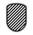 rounded shield in monochrome and striped vector image vector image