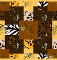 safari africa design leopard and tiger zebra vector image vector image