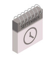 september calendar time icon isometric style vector image