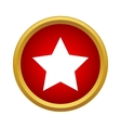 Star icon in simple style vector image