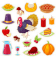 stickers for thanksgiving day vector image