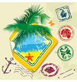 Summer and travel stamps and sticker - hand drawn vector image vector image