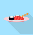sushi icon set of great flat icons design vector image