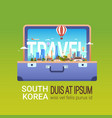 tourism and vacation concept travel south korea vector image