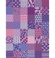 ultra violet seamless pattern set vector image