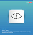 upload to cloud icon - blue sticker button vector image