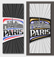 vertical layouts for paris vector image vector image