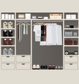 walk in closet12 vector image vector image