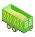 wheat farm trailer icon isometric style vector image vector image