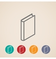 isometric book icons vector image