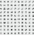 100 construction icons vector image vector image