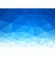abstract blue white triangles background vector image vector image