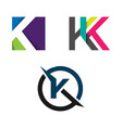abstract letter k logo concept vector image vector image