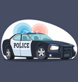 an isolated detailed image patrol police car cars vector image vector image