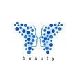 butterfly abstract logo vector image vector image