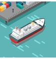 Cargo Port in Isometric Projection vector image