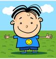 Cartoon Cute Little Happy Boy vector image vector image