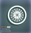 casino roulette wheel icon On the blue-green vector image
