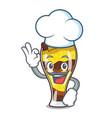 chef mangonada fruit character cartoon vector image vector image