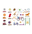 children sports equipment vector image vector image