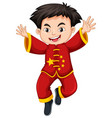 chinese boy in traditional costume vector image vector image