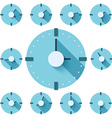 Clock flat icon EPS vector image vector image