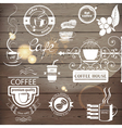 coffee logos vector image vector image