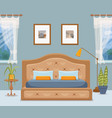 colorful of hotel apartment furniture vector image vector image