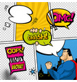 comic book page divided lines with speech vector image vector image
