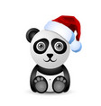 cute and funny christmas panda character vector image