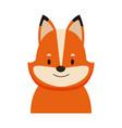 cute fox head cartoon vector image