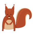 cute squirrel cartoon animal character vector image vector image