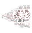 detox diet word cloud concept vector image vector image