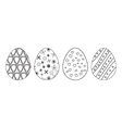 Easter eggs Drawn elements of decorative coloring vector image vector image