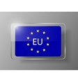 European Union Flag Glossy Button vector image vector image