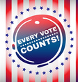 Every Vote Counts Banner vector image vector image