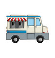 food truck sideview icon image vector image vector image