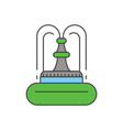 fountain line icon concept fountain flat vector image