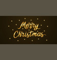 golden lettering of merry christmas vector image vector image