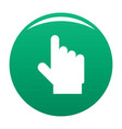 hand cursor website icon green vector image