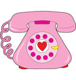 heart telephone vector image vector image