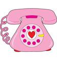 Heart telephone vector image