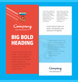 hook business company poster template with place vector image vector image