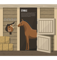 Horse Breeding Farm Stable Stall Poster vector image