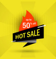 hot sale black banner vector image vector image