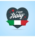 I love Italy badge vector image