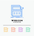 internet page web webpage wireframe 5 color line vector image vector image