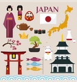 japan famouse culture architecture buildings and vector image vector image